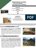 Condiciones Patrimonio Arquitectonico