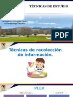 Psicoeducación Técnicas de Estudio Recoleccion de Informacion