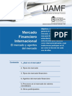 1. El Mercado y Agentes Del Mercado financiero