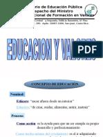 Presentación Educación y Valores