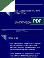 Gizi Dan MDG & RPJN April 2010 Soekirman