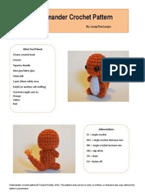 Charmander Pokemon Amigurumi Crochet Pattern - Club Crochet   396x298