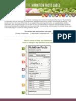 nutrition facts handout