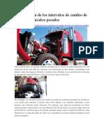 Optimización de Los Intervalos de Cambio de Aceite en Vehículos Pesados Noria
