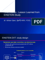 Dr. Azhari Gani, SpPD-KKV. FCIC.finaSIM- Rivaroxaban-Lesson Learned From EINSTEIN Revisi 1