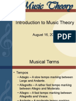 Introduction Music Theory