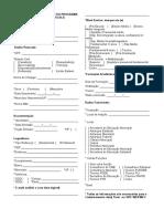 Formulario de Inscricao Do Programa Formacao Pela Escola