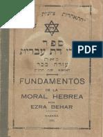 Fundamentos de La Moral Hebrea