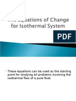 The Equations of Change for Isothermal System