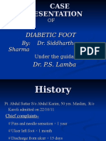 Diabetic Foot - Case Presentation
