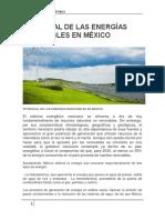 Potencial de Las Energías Renovables en México
