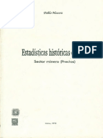 1972 - Pablo Macera - Estadísticas Históricas Del Perú. Sector Minero. Precios