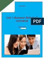 Unit 1–Business Skills for E Commerce