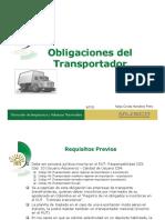 Obligaciones Del Transportador en Exportaciones