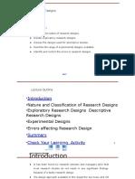 Reasearch Designs Presentation