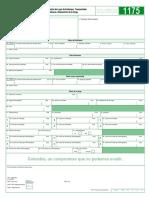 Informe Cambio de Lugar de Embarque Transportador 1175-7-0