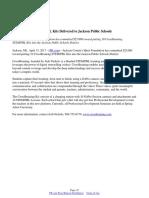CrossBraining STEM/PBL Kits Delivered to Jackson Public Schools