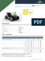 Renault Twizy 80 2014 Datasheet