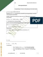 Cours Math - Chapitre 7 Suites Géométriques - 2ème Sciences Mr Hamada
