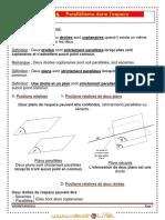Cours - Math Parallelisme-Orthogonalite Dans l Espace - 2ème Sciences (2010-2011) Mr Youssef Boulila