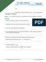 Cours Math - Chap 4 Algèbre Arithmétique - 2ème Sciences (2009-2010) Mr Abdelbasset Laataoui Www.espacemaths.com
