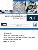 Business Intelligence System and instrumental level multi dimensional database