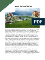 Introduction About Kashmir Tourism