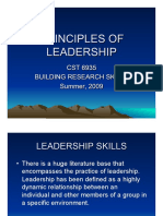 Principles of Leadership Skills