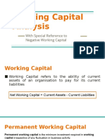 Working Capital Analysis