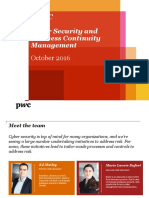 PwC - Cyber Security and Business Continuity Management