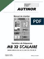 MB32 Scalaire (BG15-VEC01) (Version Allégée) -FR- Du 10 05 01 (7586)