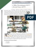 Gujarat Post Office Recruitment 2017   Gramin Dak Sevak Posts ADVT.