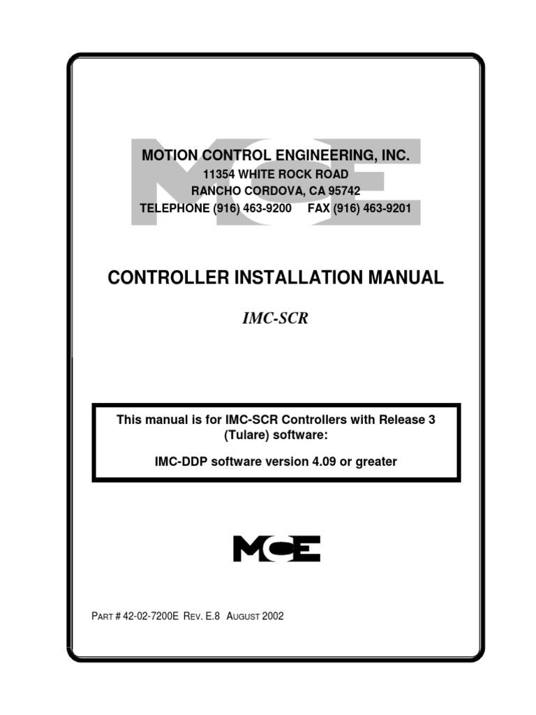 Imc Scr Rev E8 42 02 7200e Elevator Control Theory Relay Wiring Diagram