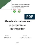 Ref. Metode de Conservare a Furajelor