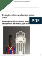 03 La Liga_ Mis Compañeros Del Eldense Se Podrían Comprar Un Piso en Barcelona