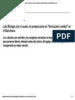 04 LaLiga Santander_ Luis Enrique, Por Si Acaso, Se Prepara Para Un Holocausto Caníbal en El Barcelona