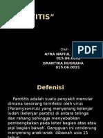 TR Parotitis