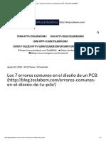 Errores comunes en PCB