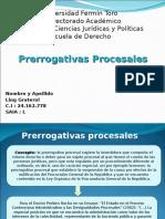 Universidad Fermín Toro Contencioso Prerrogativas Procesales