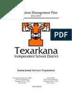 TISD Curriculum Management Plan 2012-13
