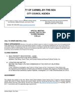 Agenda Special Meeting 04-18-17