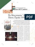 """Casino de Madrid.Pío Moa presenta """"Años de Hierro. España 1939-1945"""".Madrid,Casino de Madrid, 13/3/08"""