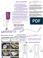 Instrucciones de Costura de Blusa y Falda Clasicas Para Damas y Ejecutivas Mj3221bf
