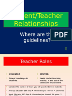 StudentTeacher Relationship