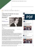 DISCURSO ÍNTEGRO de Lázaro Cárdenas en 1938 _ Red Política - El Universal