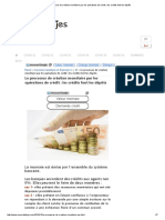 Le Processus de Création Monétaire Par Les Opérations de Crédit _ Les Crédits Font Les Dépôts