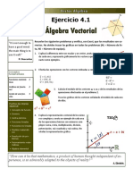 Exercise 4 - 1 Vector Algebra