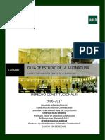 1ª Parte. Guía de Estudio. Derecho Constitucional II 2016-2017 .PDF