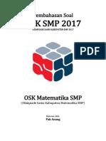 Pembahasan Soal OSK Matematika SMP 2017 Tingkat Kabupaten