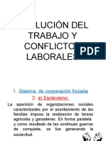 Evolución Del Trabajo y Conflictos Laborales